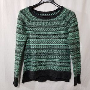 American Eagle wool blend green crop sweater
